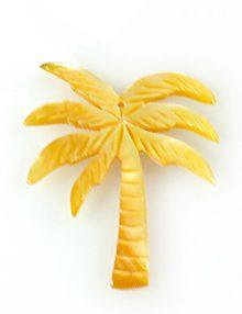 MOP Laser cut pendant palm tree des. 35mm