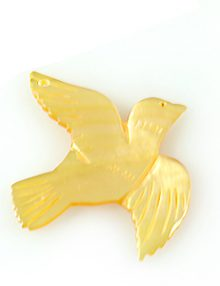 MOP Laser cut pendant bird wholesale