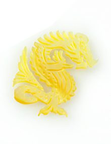 MOP Laser cut pendant dragon wholesale