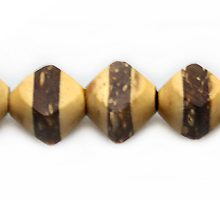 Natural coconut shell diamond beads with insert