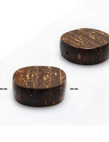 Natural Coconut shell disc cross cut bead 20mm
