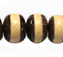 Natural Coconut shell disc double sided bead 15mm