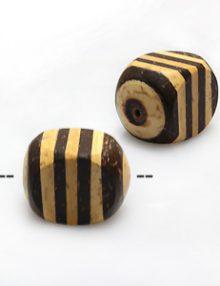 Natural coco irregular insert rondelle