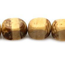 Natural Coco irregular round insert bead