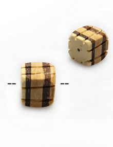Natural coconut shell bead irregular square insert