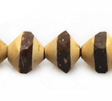 Natural coconut shell saucer bead insert 8mmx8mm