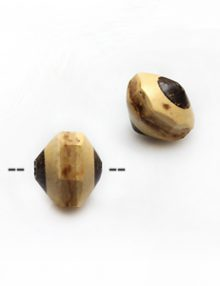 Natural coconut shell irregular saucer bead 13x11mm