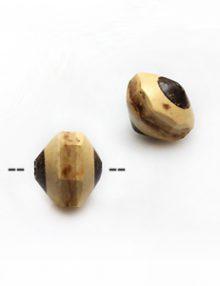 Natural coconut shell irregular saucer bead 13x11mm