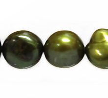 nugget pearls moss green 9-10mm