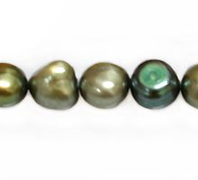 Nugget pearls silver green 6-8mm wholesale beads