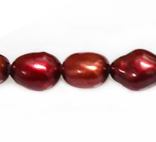 rice nugget pearls red copper wholesale beads