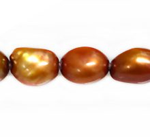 rice nugget pearls yellow copper 7-8mm wholesale beads