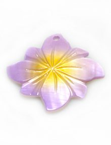 River shell painted purple flower pendant wholesale