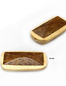 Robles wood double sided rectangle with white wood