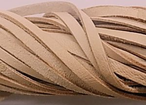 wholesale Flat leather cord natural 50 meters