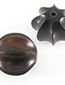 Tiger ebony wood squash design 28mm