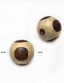 Unbleached round whitewood w/ ebony 5mm