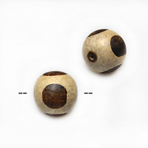 Unbleached round whitewood with ebony wood 15mm