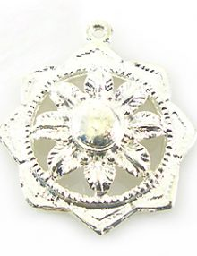 Embossed flower des. Antique silver wholesale
