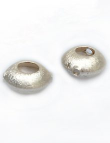 Thai silver bead 8mm diameter x 7mm thick