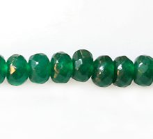 dyed jade green rondelle faceted wholesale gemstones