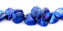 Pearl keshi electric blue 7-8mm wholesale gemstones