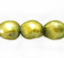 rice pearl with lines 9x11mm lime green wholesale beads