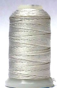 wholesale Silk Bead Cord F White