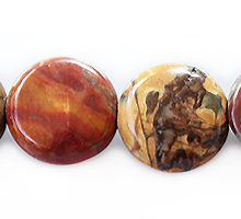 red creek jasper coin 10 x 5mm wholesale gemstones