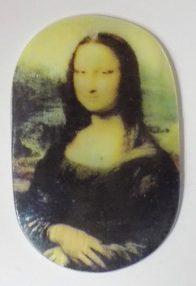 River shell in decal print Monalisa pendant