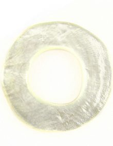 Capiz Shell Irregular Donut 50mm - Natural