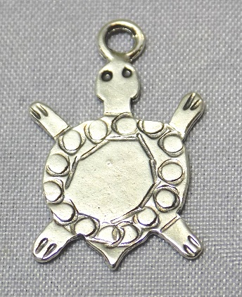sterling silver Turtle Flat Pendant