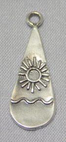 Ocean Sun Teardrop Pendant sterling silver