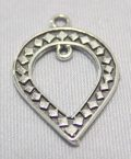 sterling silver Ornate Cut Out Teardrop Pendant