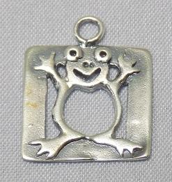 sterling silver Frog Framed Pendant