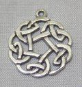sterling silver Celtic Circular Drop Pendant