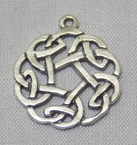sterling silver Celtic Circular Drop Pendant