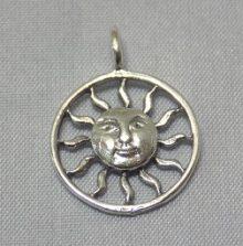 sterling silverSun Circular Frame Pendant