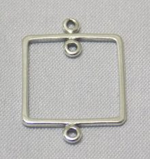 sterling silver Large Frame Pendant Link Connector