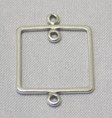 sterling silver Large Frame Pendant Link Connector
