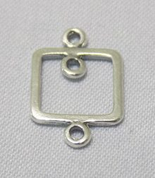 sterling silver Small Frame Pendant Link Connector