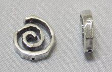 sterling silver Small Swirl Bead