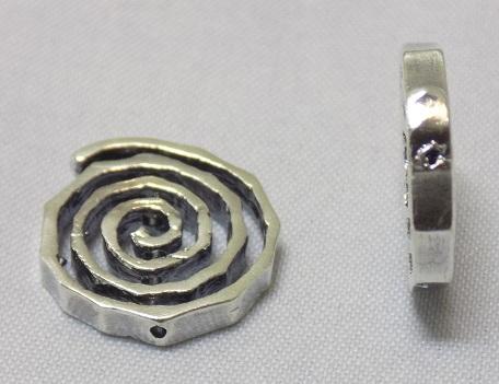 sterling silver Large Swirl Bead