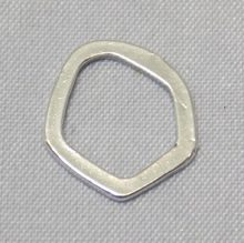 Free Form Flat Spacer Bead sterling silver