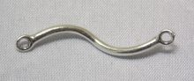 sterling silver S-Shaped Link Connector