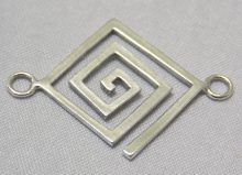 sterling silver Square Spiral Link Connector