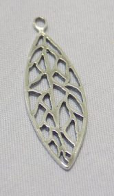 sterling silver Leaf Cut-Out Pendant