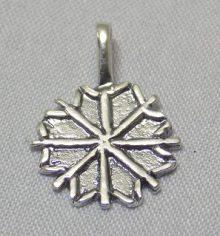 sterling silver Snowflake Drop Pendant