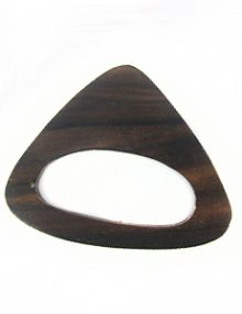 Black ebony wood triangle kalar 50mm