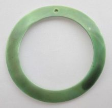 Makabibi Silver green Shell Hoop Pendant limited stock only